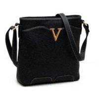 Wholesale 2015 New Women messenger bag Ladies cross body bags leisure Shoulder bag black PU Handbags Blosas purses