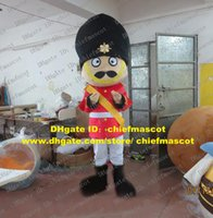 beard guard - Gallant Cuticolor Armed Escort Squad Of Bodyguards Mperial Royal Guard Soldier Mascot Costume Black Hat Beard Red Jacket ZZ1552