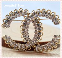 Wholesale mix cm Fashion gold brand Zinc alloy With diamond Brooch Badge Pin Collar Jewelry Gift Pet cloth pet