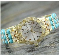 analog website - The classic set auger steel belt turquoise watch The foreign trade website hot style quot Women watch