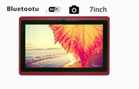 Wholesale 30pcs Quad Core gb Red quot Inch A33 Android Kit Kat gb Tablet Pad Pc Wifi Bluetooth Camera