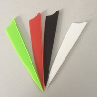 archery vanes - archery arrow feathers quot plastic peltate arrow vanes four color hunting and archery bow arrow feathers