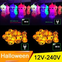 battery operated power supply - AC power supply V V Battery Operated LED Fairy String Lights D Pumpkin LED Lights Halloween Christmas Decoration Lights