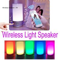 venda por atacado bedside lamp-2016 Speaker Bluetooth LED Night Light blutooth Speaker de cabeceira Lamp Touch Control Speaker Cor Mudar Lâmpada de tabela Luzes 010252