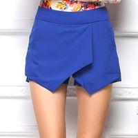 Wholesale 2016 Summer New Fashion Plus Size Women Girl Leisure Irregular Cross laminated Culottes Shorts Top Quality