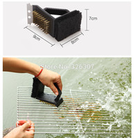 barbecue grill accessories - Outdoor barbecue grill cooking tools accessories basting cleaning brushed metal scraper BBQ picnic camping kitchen party