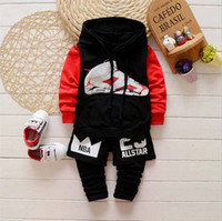 Wholesale 2016 summer and autumn new style suits children s pure cotton suits piece sets long sleeve cartoon coat and pant with short pants