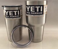 Wholesale 30 oz YETI In Stock Rambler Tumbler oz YETI Cups Cars Beer Mug Large Capacity Mug Tumblerful ml Yeti cups free ship