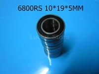 6800RS rodamientos 6800 6800RS 10 * 19 * 5 mm de acero cromado ranura profunda rodamiento caucho sellado rodamiento de pared fina 61800