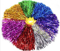 Wholesale hot g Modish Cheer Dance Sport Supplies Competition Cheerleading Pom Poms Flower Ball Lighting Up Party Cheering Fancy Pom Poms