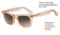 achat en gros de lunettes de soleil de fruits-Lunettes de soleil en acétate de style classique de qualité supérieure ICE POP marquage de fruits en gradient lentille en verre nouvelle gafas de sol 6055 6056 6057 6058 6059 6060