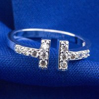 Wholesale 1pcs woman sterling silver cz cubic zirconia stone sizable adjustable opening ring R7