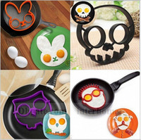 Wholesale Silicon Egg Ring Egg Mold Skull Owl Egg Ring Shaper Rabbit Cooked Fried Egg Shaper Silicone Moulds Mold Funny Cooking Tool B938