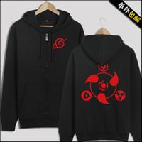 Cheap Wholesale-New naruto hoodie Anime Naruto Sasuke Uchiha Thicken Jacket Hooded Sweatshirt Hoodie Naruto Cosplay Hoodie Free shipping