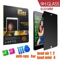 Wholesale ipad Anti Spy Privacy Tempered Glass Screen Protector For Apple iPad air Mini pro Protective Film Screen Guard