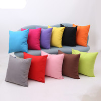 Wholesale New arrival Simple Fashion Suede Nap Cushion Cover Candy Colored Home Decor Sofa Throw Pillow Case Solid Pillowcase