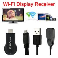 Wholesale MiraScreen OTA TV Stick Dongle Better Than EZCAST EasyCast Wi Fi Display Receiver DLNA Airplay Miracast Airmirroring Chromecast DHL