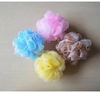 Wholesale Multicolour Bath Ball Bathsite Bath Flower Tubs Cool Bath Towel Scrubber Body Cleaning Mesh Shower Wash Sponge