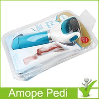 Wholesale Hot New Amope Pedi Perfect Electronic Pedicure Foot File Scholl Velvet pedi perfect feet care exfoliating foot Brand New dhl