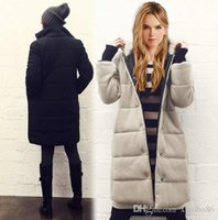 Wholesale Europe and the United States explosive jacket New dress Hooded cotton coat Loose coat Straight cotton sales
