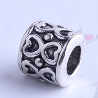 Wholesale Love hollow design Pandora loose Bead charm antique silver bronze Zinc Alloy for DIY pendant Jewelry Making Accessories