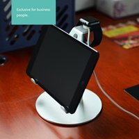 Wholesale Creative in Charging Stand for iWatch and iPad Aluminum Metal rotating angle adjustable Desktop Stand Holder for Mobile Phone Tablet PC