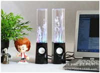 Wholesale Dancing Water Speaker Music Audio MM Player LED Light in USB Mini Colorful Water Drop Show Fountain Speakers ZD061A