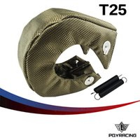 Wholesale PQY RACING T25 T28 GT25 GT28 GT30 GT35 TURBO TURBOCHARGER FULL TITANIUM HEAT SHIELD WRAP BLANKET PQY1302 T