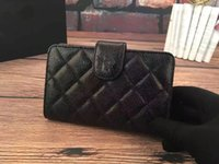 Wholesale Ms classic ball grain leather brief paragraph wallet more screens interlayer leather wallet card bag change purse