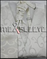 ascot tie for sale - hot sale ivory swirl Men s Vest amp ascot Tie Set for wedding