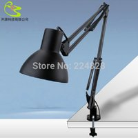 american wedges - Led Table Lamp Iron Foldable Long Arm Type Desk Lamp Reading Lamp V V Clip Office Lamp American type Student For Study