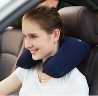 Wholesale Functional Inflatable U Shaped Pillow Car Head Neck Rest Air Cushion for Travel