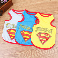 Wholesale New Cool Summer Pet Dog Clothes Fashion Superman Mesh Vest Shirt Clothes for Dogs Pet clothing WA0533