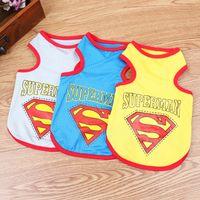 Cheap Vests Summer Pet Dog Clothes Best Spring/Summer Chirstmas Superman Mesh Vest