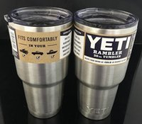 Wholesale 30 oz Yeti Cups Cooler Stainless Steel YETI Rambler Tumbler Cup Car Vehicle Beer Mugs Double Wall Bilayer Vacuum Insulated Refly