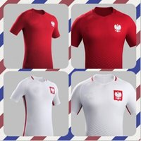 Wholesale XXL new Poland Soccer Jersey Home White Away Red Polska Lewandowski Piszczek Koszulki football Custom name