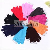 Wholesale Knit Wool Iphone Touch Gloves Ipad Touch Screen Gloves Winter Warmer Gloves Mobile Phone Screen Conductive Gloves Touch Gloves A1248