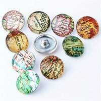aa jewelry rings - Mix Copper Snap Button Fit MM Map Pattern Glass Rhinestone Jewelry Charms Random PC Aa Pack