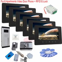 apartment door bell - For Apartments Inch Video door phone door bell HD TVL IR Night Doorbell Camera Electronic Control Lock In Stock