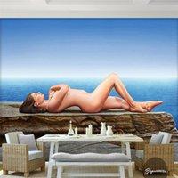 beach wallpaper hd - custom photo wallpaper High quality silk cloth HD Nude beach to enjoy the natural beauty of the larger stones d large mural d wallpaper