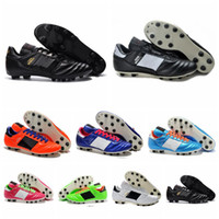 Wholesale 2016 New Original Mens Copa Mundial Leather FG world cup football Boots Soccer Shoes soccer cleats sneakers Football Shoes botines de futbol