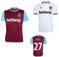 Wholesale 16 West Ham Soccer Jerseys United Home Red White LANZINI Football Shirt PAYET CARROLL SONG ZARATE NOBLE KOUYATE