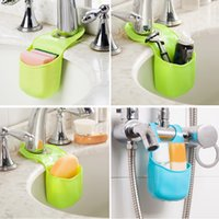 bath sponge holder - Cute Kawaii Bath Storage Gadget Sink Holder Kitchen Tools Portable Hanging Drain Bag Sponge Drain shelf Basket For kitchen