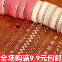 Wholesale Pink white lace tape cute little fresh and transparent lace small roll tape DIY decorative stickers meters