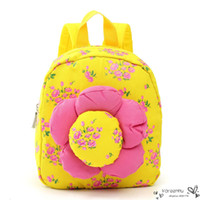 big cute backpacks - 5 Color Hot Children Backpack Big Flower Cute Girl Canvas Small School Kindergarten Lovely Floral Sunflower Kid Student Bag
