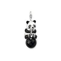 big green panda - ashion Jewelry Charms FEELIN fashion women jewelry Chinese panda big pendants for necklace cute silver plated panda with black rhinestone