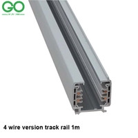 Wholesale 1m LED Track Rail wire Phase Thicken Fixture Black White Straight Corner way way Connector for track light