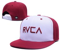 Wholesale New arrival RVCA Snapback Hats in Black red white red adjustable Caps Men and women hat