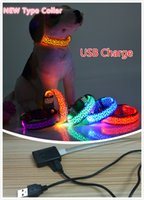 basic decor - New Dog Glow Collar USB Charge Reusable Leopard Print Flashing LED Dog Collars Leopard Design Pet Necklace Harness Walk Dog Safty Decor