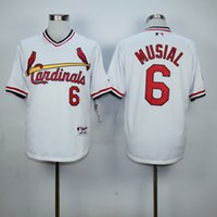 throwback jerseys - 2016 Baseball Jersey St Louis Cardinals Ozzie Smith Stan Musial Throwback Baseball Jerseys White Black Blue Grey Cheap Top Quality